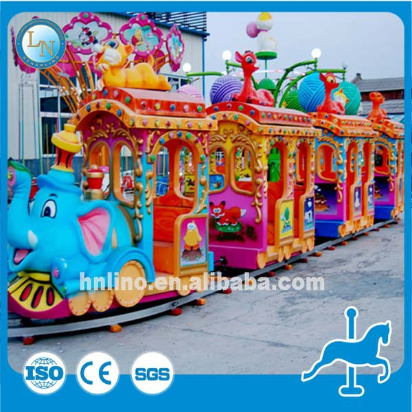Best painting! amusement park animal kiddie mini electric train rides