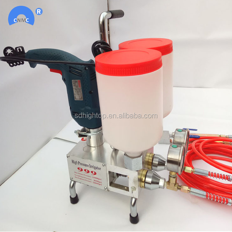 Two component liquid high pressure PU Foam injection grouting machine