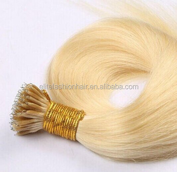 Top Selling Products Hair Brand 100 Remy 12-30 inch Keratin Pre-bonded Nano Ring Hair Pure Human Hair Extension