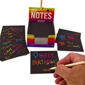 Rainbow Scratch Off Mini Notes