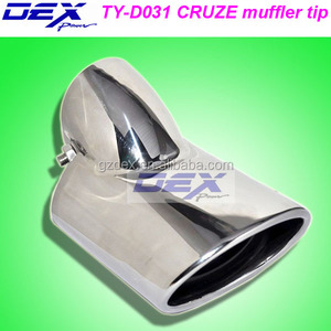 auto part tuning racing stainless steel 304 exhaust system muffler tips for Cruze /Outback
