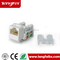 China supplier Free pr Utp cat5e keystone jack cheap price rj45 wall jack male utp rj45 keystone jack rj45(TF1015A)