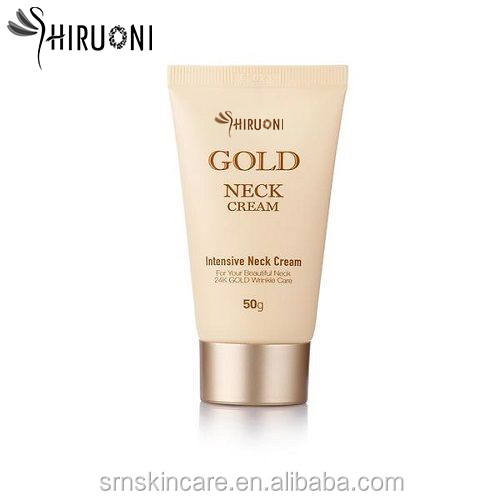 Factory Supply Skin Care 100% Natural Extracts Whitening And Firming Skin 24K Gold Intensive Neck Cream OEM