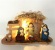 2017 cheap Christmas Decoration Terracotta Nativity Set with Wooden Stable LED LIGHTS