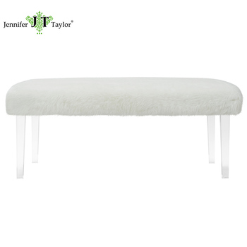 Outstanding Modern Upholstery Lazy White Bench Fur Covered Stool Ottoman With Acrylic Leg Buy Fur Stool Fur Stool Ottoman Bench Furniture Product On Alibaba Com Squirreltailoven Fun Painted Chair Ideas Images Squirreltailovenorg