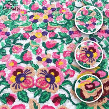 Special Design Big Hole Hand Embroidery Patterns Tulle Lace Fabric