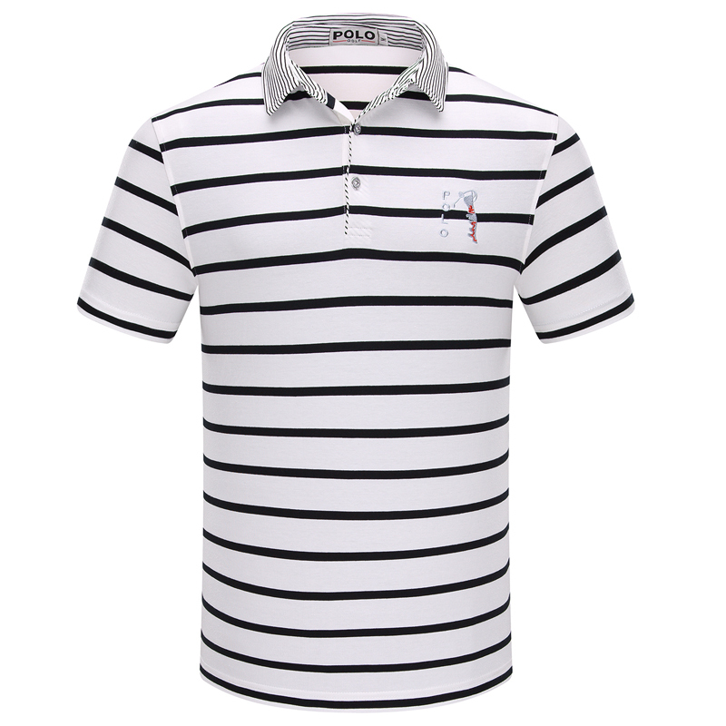 bda6ced0 Get Quotations · Brand POLO golf mens striped shirt men teen cotton summer  clothes new polo 2015 shorts sleeve