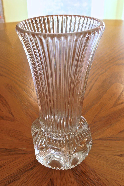 Cheap lead crystal vase sale find lead crystal vase sale deals on vintage fostoria clear celestial 4 34 heavy lead crystal bud vase discontinued reviewsmspy
