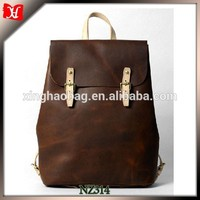 crazy horse leather bag crazy horse bag custom leather backpack factory