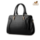 Alibaba wholesale classical crocodile embossed leather handbags for women
