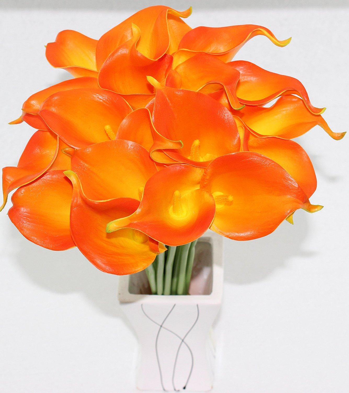 Buy simpleyourstyle calla lily artificial flower 40pcs box package simpleyourstyle calla lily artificial flower 40pcs box package no vase bridal wedding bouquet 40 head latex izmirmasajfo