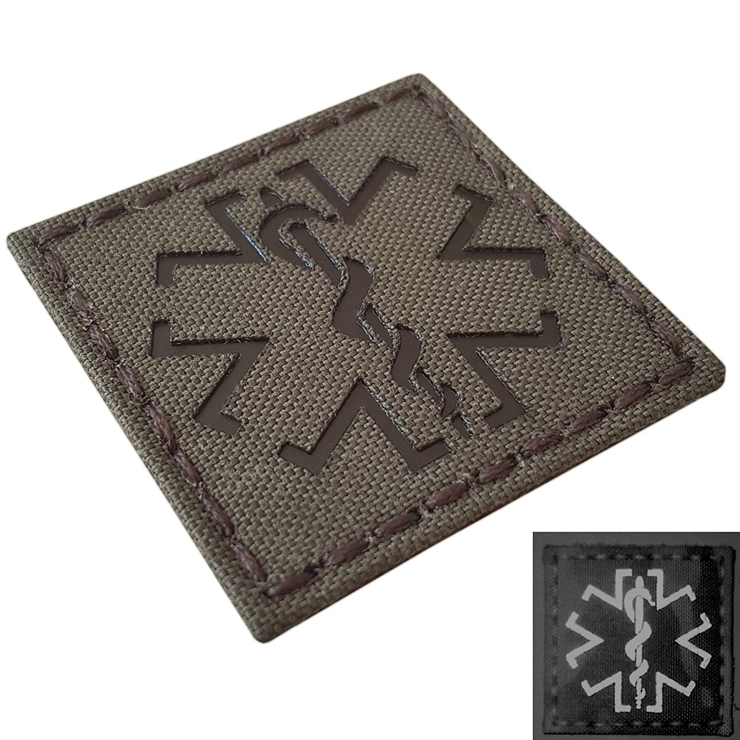 IR Ranger Green EMS Star of Life Medic 2x2 Infrared Laser Cut Tactical Morale Touch Fastener Patch