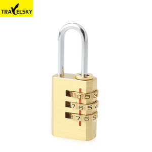 1300102 Big Promotional 3-dial brass combination padlock with best brand