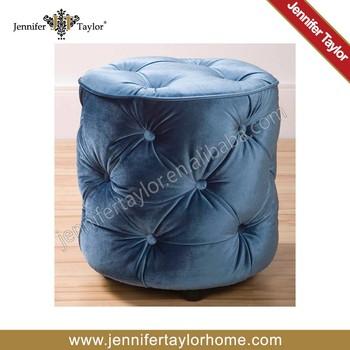 lovely blue velvet small upholstered stool and ottoman buy upholstered stool and ottoman blue. Black Bedroom Furniture Sets. Home Design Ideas