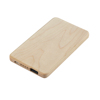 STW Ultra thin custom logo powerbank wood 5000mah bamboo power bank