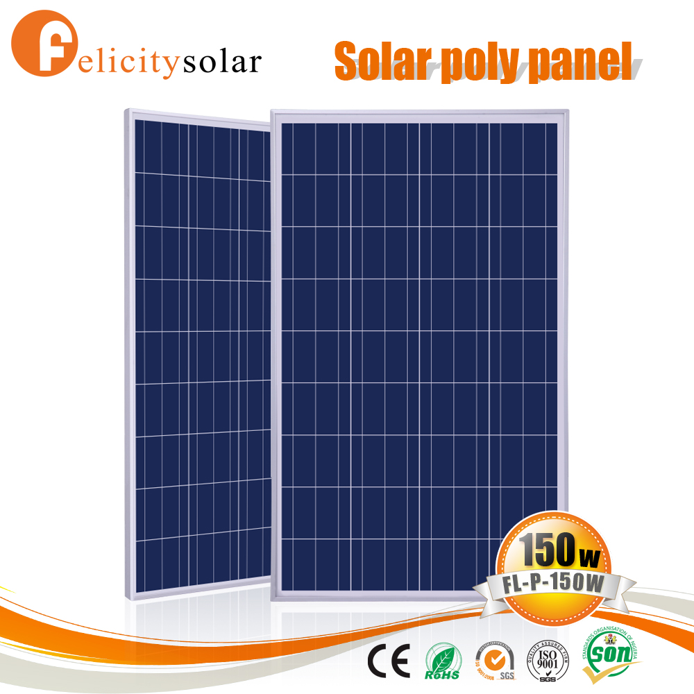 Conventional frame 150 watt solar panel with great price