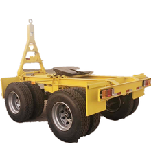 Shandong Jining 2 Essieux Lowboy Remorques <span class=keywords><strong>Dolly</strong></span> chariot de remorquage remorque à vendre