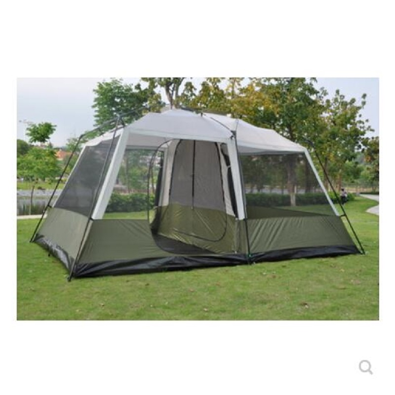 460*305*H210cm two bedrooms & one mall camping family tent large space for traveling hiking 6/7/8/persons double layers