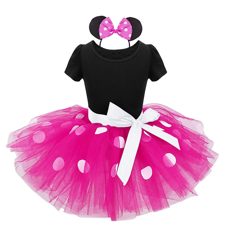 Freebily Infant Baby Girls' Mouse Fancy Dress Dance Tutu Costume with Headband