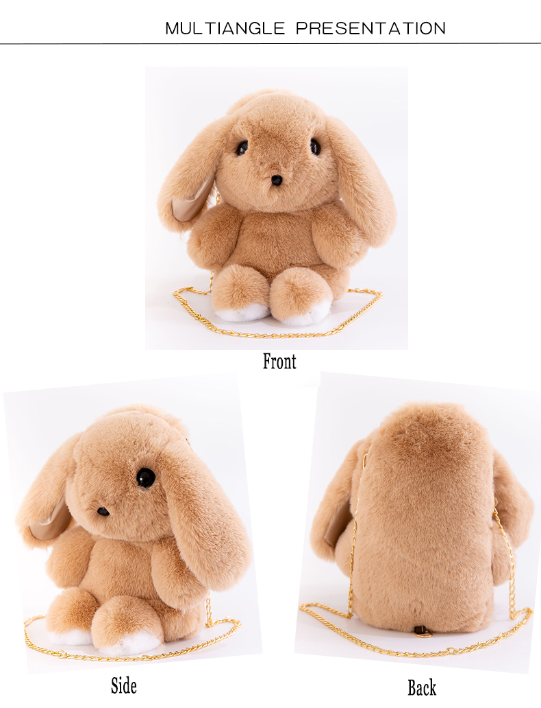 Plush toy cute rabbit large capacity Backpack