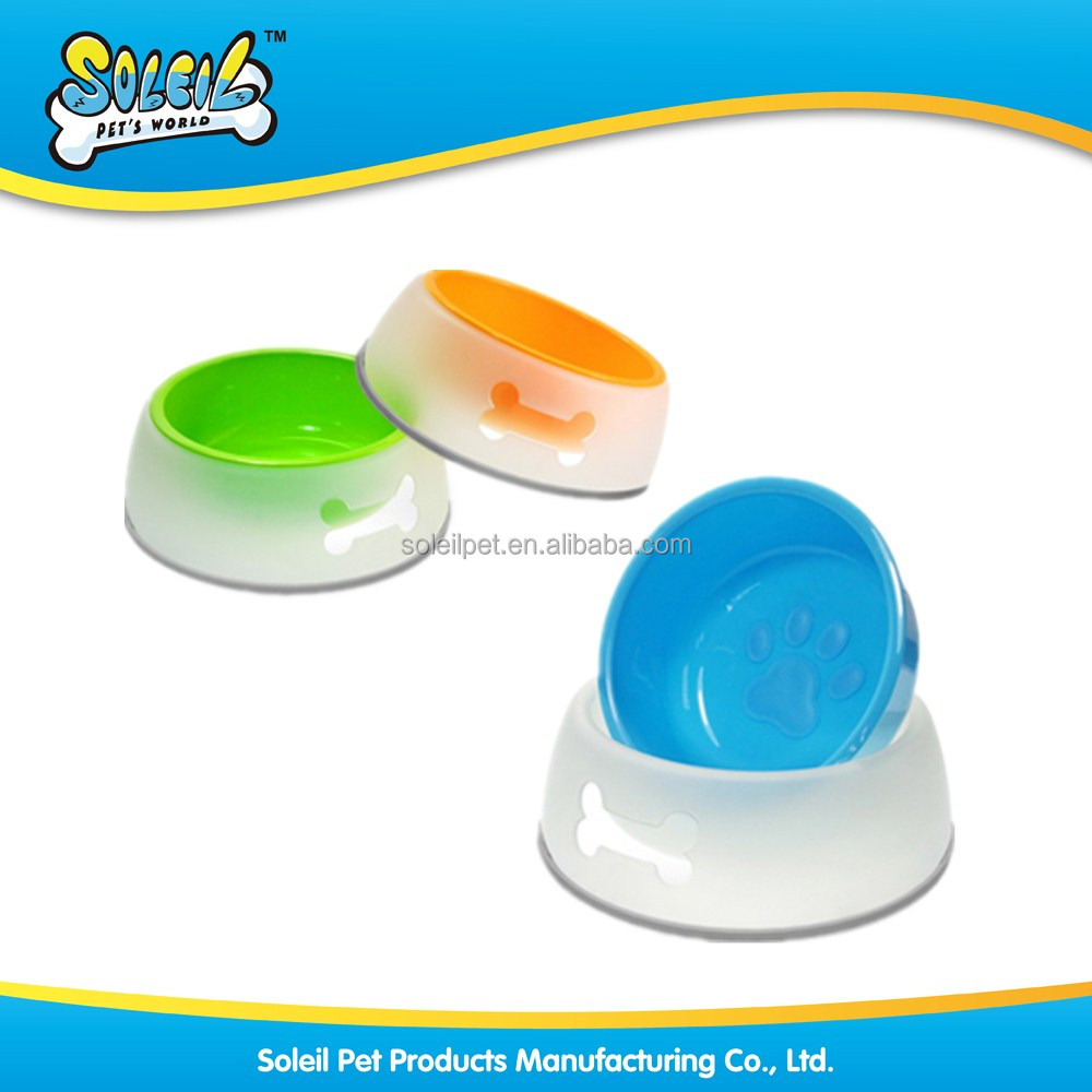 New Design Non-Skid Double Layer Plastic Dog Bowl Pet Bowl