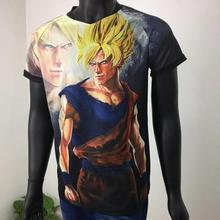 2019 Football V T-shirt Style 3D Camisetas L'anime Dragon Ball Z Super Saiyan V Cou Camisas Anime Vegeta 3D T-shirt