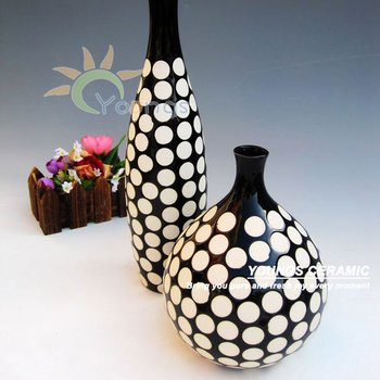 Nice Black And White Pottery Vases For Decoration Buy Black And