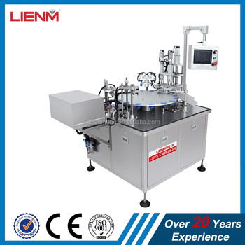Automatic Rotary 10ml,50ml, 100ml, Liquid Perfume Filling Machine And Capping Machine