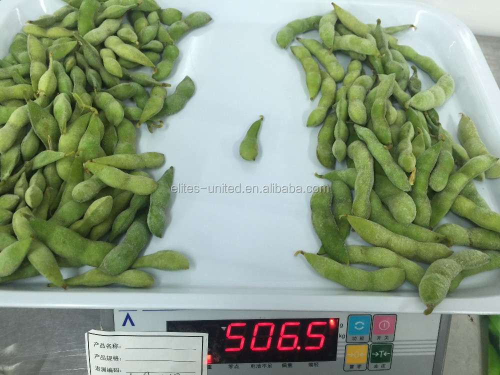 Cheap price for green soy bean in pods frozen edamame kernel