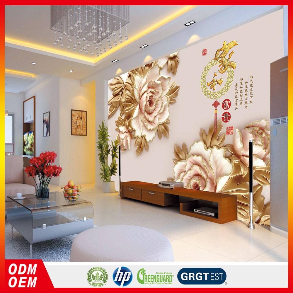 3d custom murals wallpaper texture flower chinese flower painting