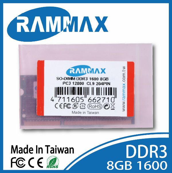 Electronics Stocks Best quility DDR3 1600MHz 8GB so-dimm ram laptop ram memory Rammax factory price