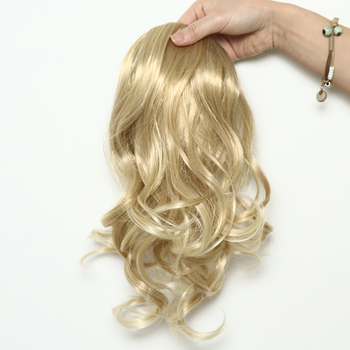 Natural Curly Blonde Claw Clip Ponytail Hairpieces