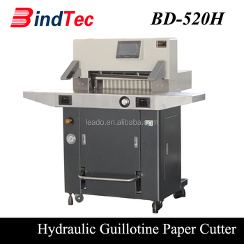 BD-520H Automatic Program Fast Speed Electric Guillotine Paper Cutter Cutting Machine