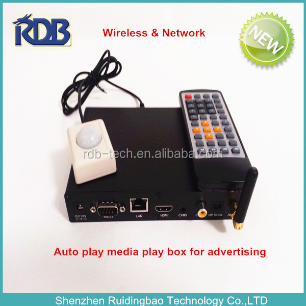 RDB Wireless & Network Auto play media play box for advertising DS009-107
