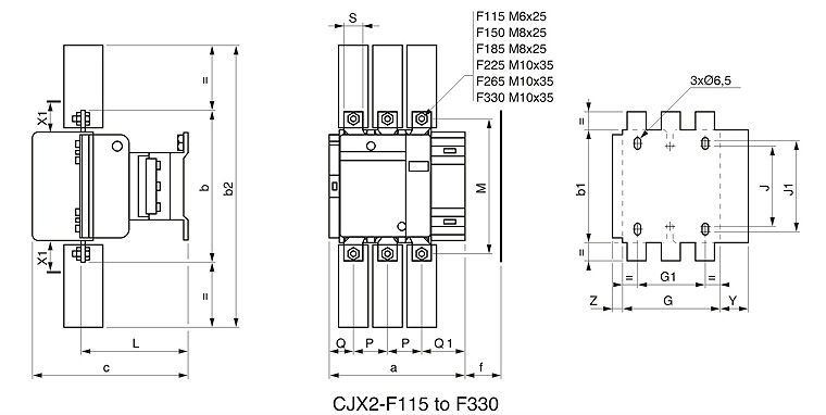 f115 magnetic contactor