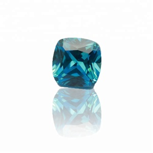 Original Gemstone Cubic Zirconia Deep Aquamarine Bangkok Gem
