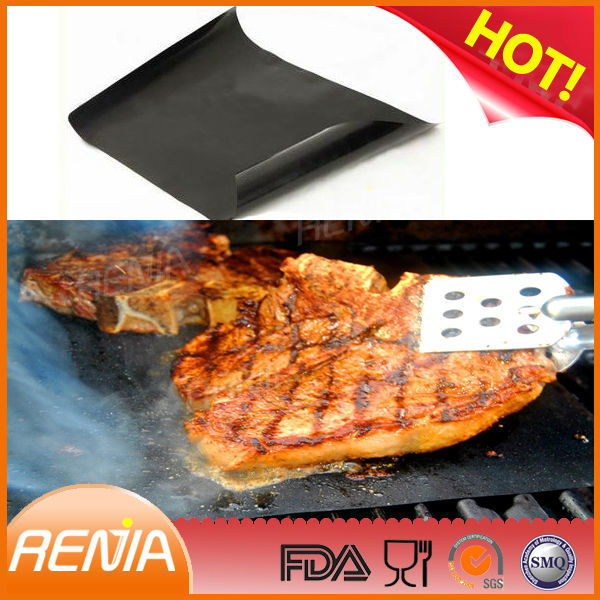 RENJIA kitchen heated cooking silicone baking mat heat resistant silicone baking mat bbq grill mat