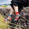 new style custom fair isle knit women's wool socks