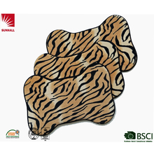 fashion tiiger stripes mat special shape mat dog bone mat