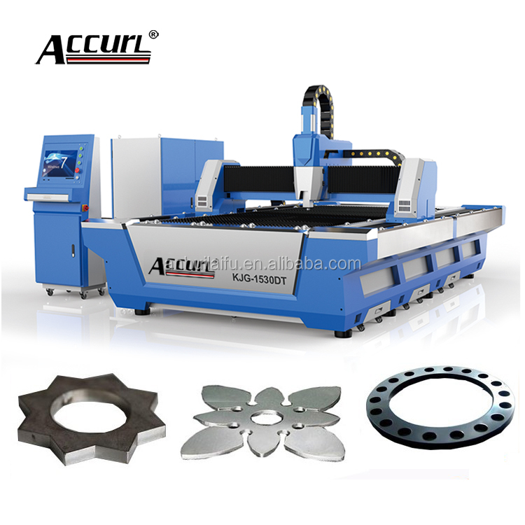 CNC FIBER 500W 6MM Metal Laser Cutter Machine