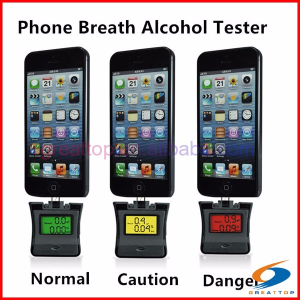 2 in 1 wine alcohol tester designed for both Apple and Android devices