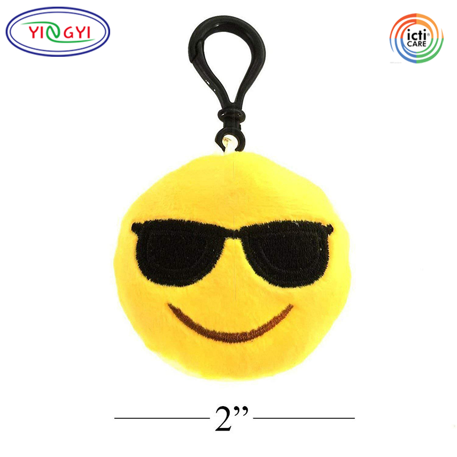 D188 Emoji Mini Plush Emoticon Keychain Decorations Party Supplies Favors Class Birthday Present Toys For Claw Machine