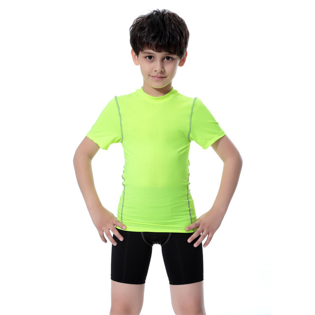 Latest Boy Football Compression Short Pants Kid's Sports Tights Legging