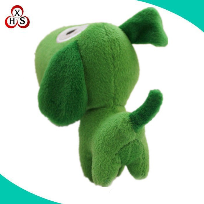 cheap green plush dog small toys for promotion gift