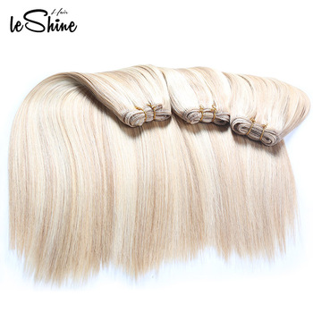 Wholesale Platin Gold Hair Cheap And Easy To Dyed  613 Blonde Brazilian Hair Weave Bundles