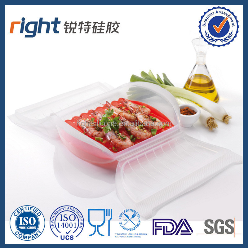 Food grade silicone steamer for CNY
