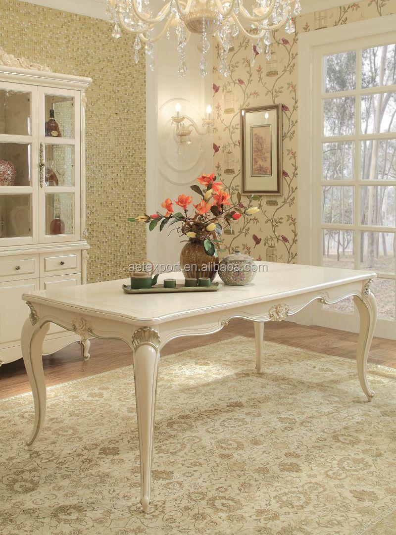 edle französisch stil weißen esszimmer gesetzt high-end klassiker, Esstisch ideennn