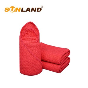 Sunland Most Popular Fast Drying Microfiber Towels Hand Red Towel