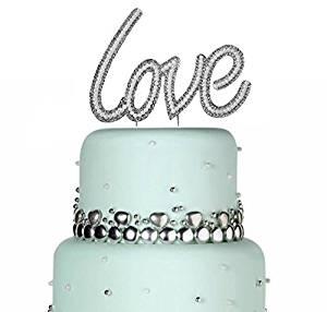 43853e76bb42 Large Love Cake Topper Sparkle Pearl Rhinestone Cake Topper Sweet Sixteen  Cake Topper Wedding Cake Topper