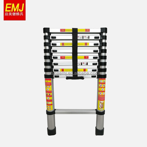SGS CE EN131-6 New type 3.8M Aluminium Telescopic Ladder with Finger Gap